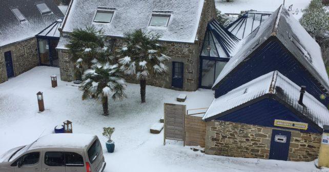 La Villa Feunteun Speur sous la neige